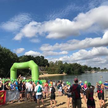 Schwimmstart beim Sassenberger Triathlon 2018