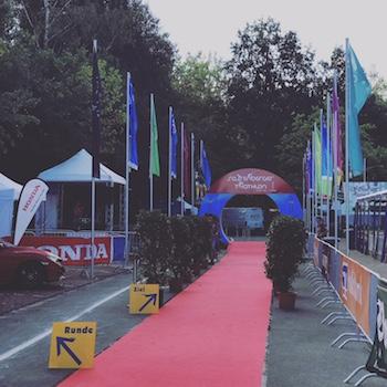 Zieleinlauf Sassenberger Triathlon 2018